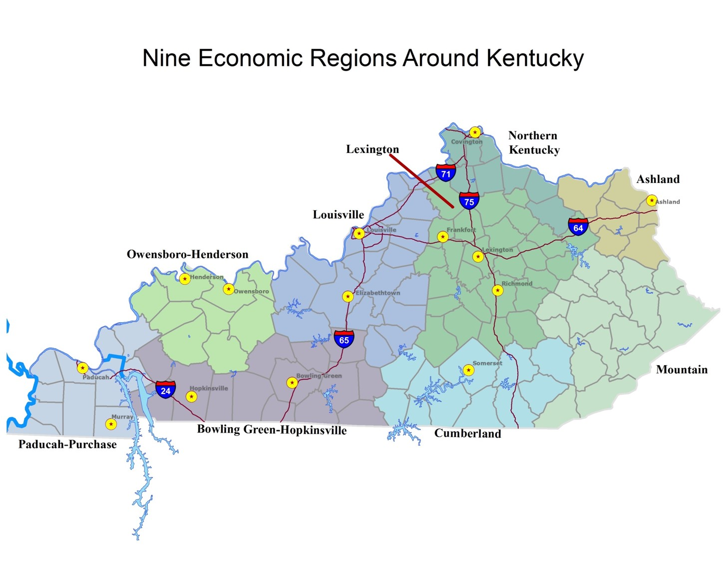 Ky Chamber Examines States Economic Growth Since Recession The - Kentucky economic map